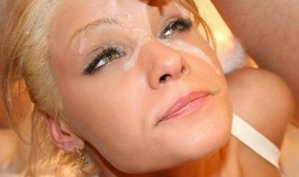 Blasen und abspritzen ins Gesicht